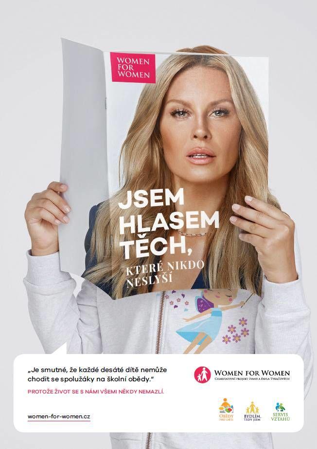 Simona Krainová podporuje Women for Women