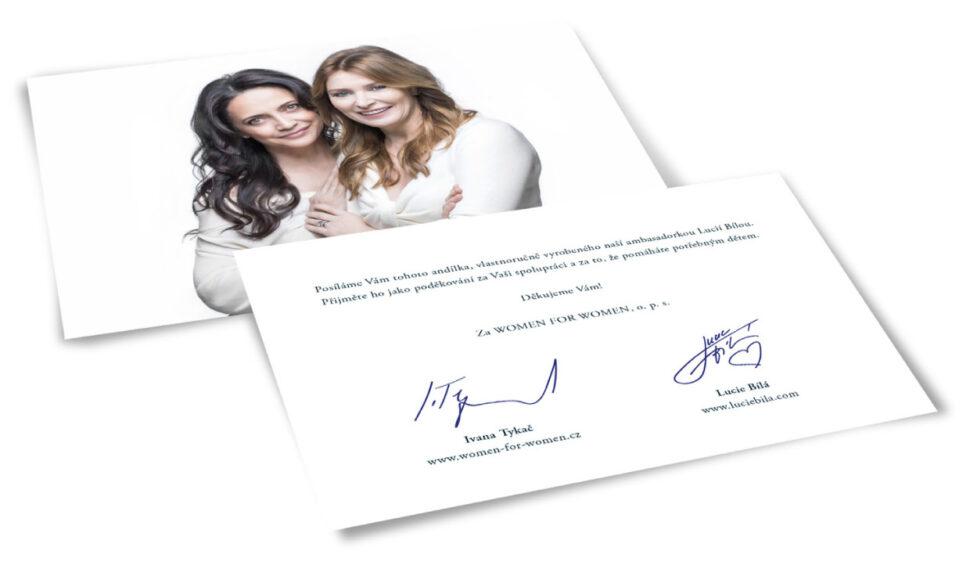 Lucie Bílá podporuje Women for Women